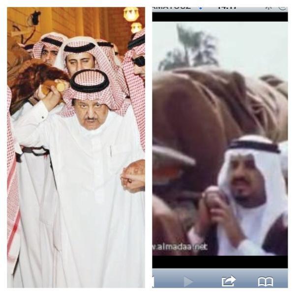 صورة مؤثرة سلطان يحمل فيصل والأخرى نايف يحمل سلطان رحمهم