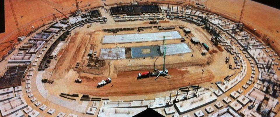 عاجل/آخر الصور الملتقطة لملعب الملك عبدالله,انتهاء الأساسات,صور ملعب الملك عبدالله